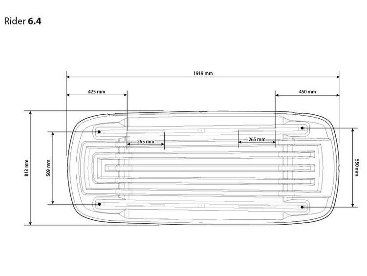 Strešný box Hapro Carver 6.5 Antracit
