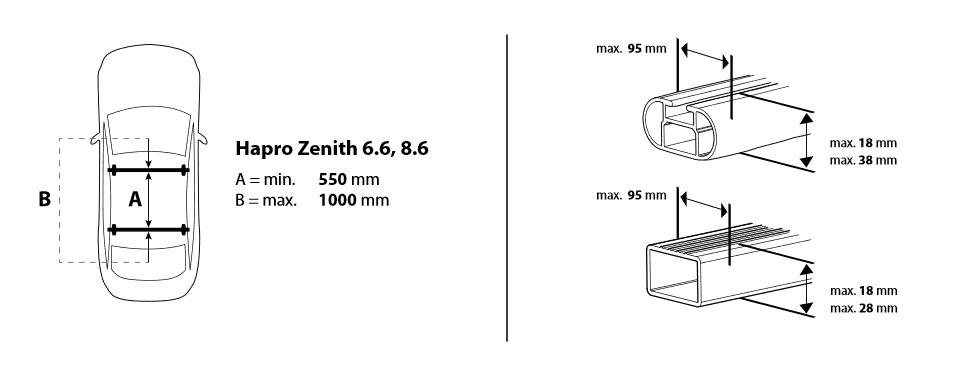 Strešný box Hapro Zenith 6.6 Brilliant Black