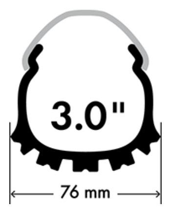Atera - upínacie popruhy 30 cm (sada 4 ks)