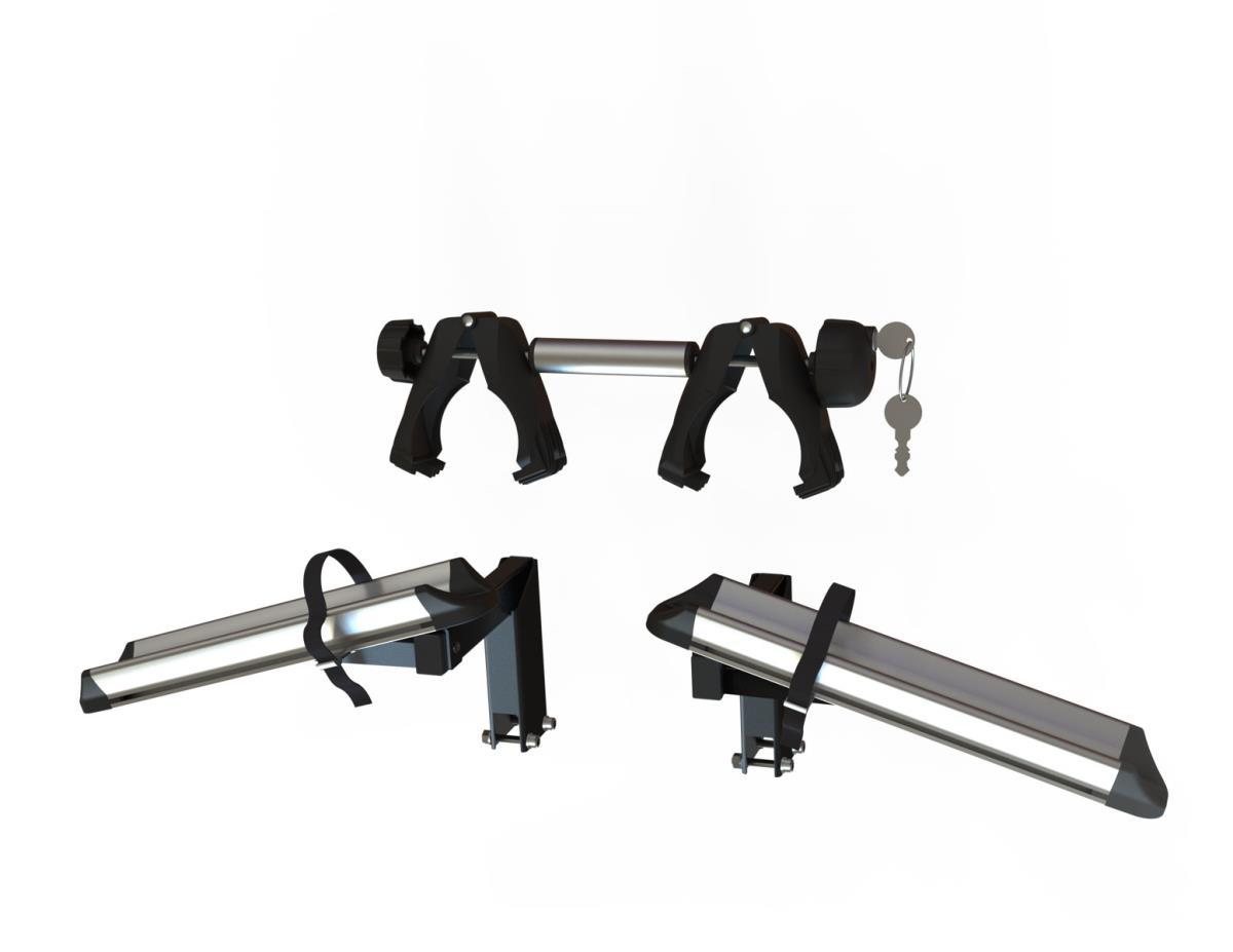 Nosič bicyklov Hakr Trip 3 Middle + adapter HV1160