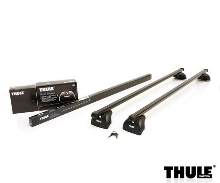 Strešný nosič THULE SquareBar 753/761/4021 pre VOLVO V60 Strešný nosič THULE Squar